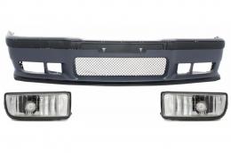 Front Bumper suitable for BMW 3er E36 (1992-1998) M3 Design With Chrome Fog Lights - COFBBME36M3FC