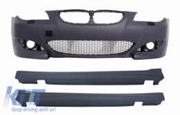 Front Bumper suitable for BMW 5 Series E60 E61 (2003-2010) with Side Skirts M5 Design - COFBBME60M5XSS