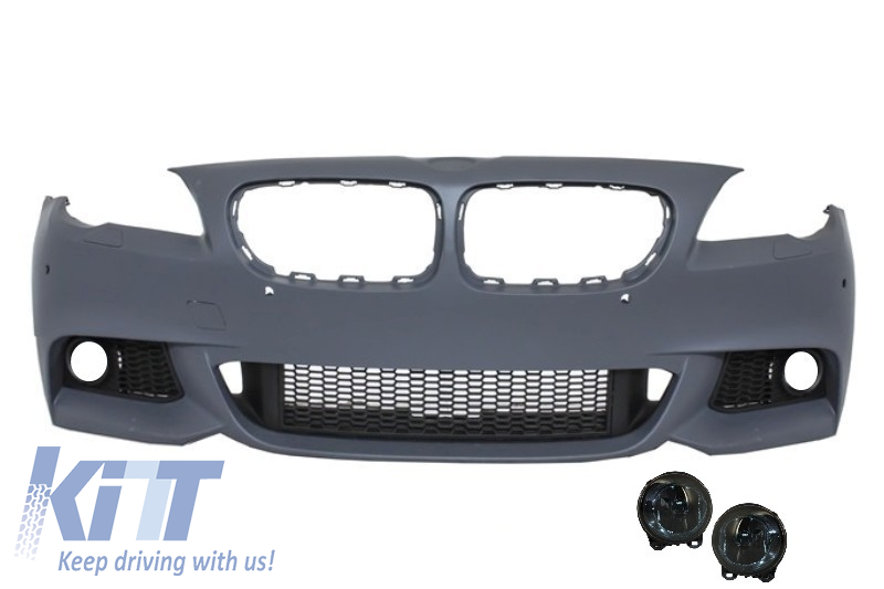 744eed5c8b92 Front Bumper suitable for BMW F10 F11 5 Series (2011-2014) M-Technik Design  With Smoke Fog Lamps