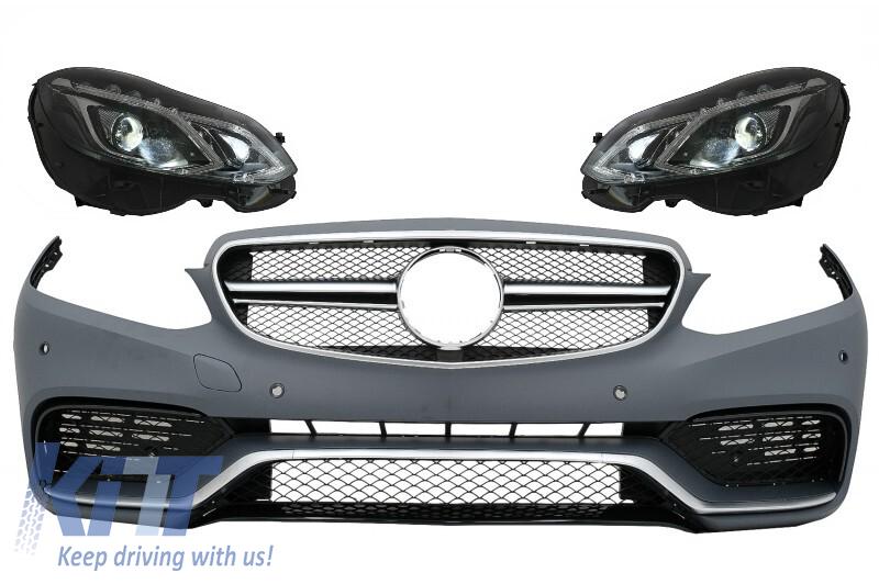 Front Bumper suitable for MERCEDES Benz W212 S212 E-Class Facelift  (2013-2016) E63 A-Design with Headlights LED Xenon Design