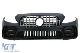 Front Bumper suitable for Mercedes C-Class W205 S205 A205 C205 (2014-2020) GT R Design - FBMBW205GTM