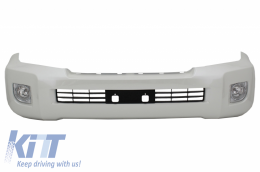 Front Bumper suitable for TOYOTA Land Cruiser FJ200 (2008-2011) Retrofit Assembly (2008-2011 to (2012-2014) Model Pearl White - FBTOLC200