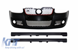 Front Bumper suitable for VW Golf Mk 5 V Golf 5 (2003-2007) GTI Design with Side Skirts - COFBVWG5GTIWFSS