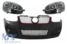 Front Bumper suitable for VW Golf V 5 MK5 (2003-2007) GTI Design with Xenon Look Headlights