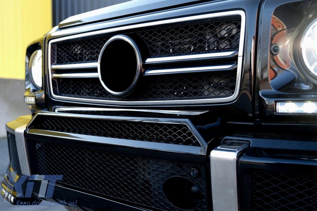 Front Bumper Upper Spoiler Lip suitable for MERCEDES Benz W463 G-Class  (1989-up) B-Design