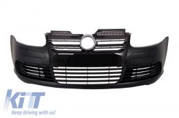 Front Bumper VW Golf V 5 (2003-2007) Jetta (2005-2010) R32 Piano Glossy Black Grill