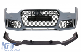 Front Bumper with Add-On Spoiler Lip Real Carbon suitable for Audi A7 4G Facelift (2015-2018) RS7 Design