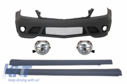 Front Bumper with Fog Lights Side Skirts suitable for MERCEDES C-Class W204 (2007-2012) C63 AMG Design - COFBMBW204AMGFL