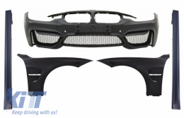 Front Bumper with Front Fenders and Side Skirts suitable for BMW 3 Series F30 F31 Pre-LCI & LCI (2011-2018) M4 Design - COFBBMF30M4SSFF