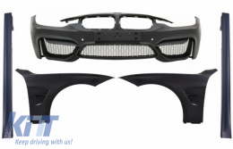 Front Bumper with Front Fenders and Side Skirts suitable for BMW 3 Series F30 F31 Pre-LCI & LCI (2011-2018) M4 Design - COFBBMF30M4SSFFB