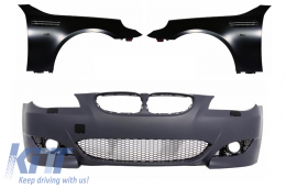 Front Bumper with Front Fenders suitable for BMW 5 Series E60 E61 Sedan Touring (2003-2010) M5 Design