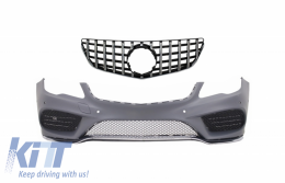 Front Bumper with Front Grille suitable for Mercedes Benz E-Class Coupe Cabriolet A207 C207 Facelift (2013-up) Sport GTR Design