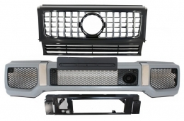 Front Bumper with Grille suitable for MERCEDES G-Class W463 (1989-2017) G63 GT-R Panamericana Design - COFBMBW463AMGGTR