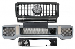 Front Bumper with Grille Suitable for MERCEDES G-Class W463 (1989-2017) G65 G63 GT-R Panamericana Design - COFBMBW463AMGGTRB