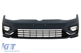 Front Bumper with LED DRL suitable for VW Golf 7.5 (2017-2020) R Design - FBVWG75R