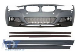 Front Bumper with Side Skirts BMW 3er F30 F31 Sedan Touring (2011-up) M-Performance - COFBBMF30MPSS