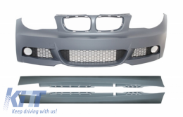 Front Bumper with Side Skirts suitable for BMW 1 Series E87 (2009-2012) M-tech M-Technik Design - COFBBME87MTSS