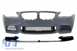Front Bumper with Spoiler Lip suitable for BMW 5 Series F10 F11 (2010-up) M-Performance Sport M550 Design