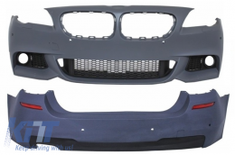 Front Bumper Without Fog Lamps with Rear Bumper BMW F11 Touring 5 Series (2011+) M-Technik Design - COCBBMF11MTPDCWF