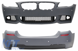 Front Bumper Without Fog Lamps with Rear Bumper BMW F10 5 Series (2011+) M-Technik Design - COCBBMF10MTPDCWF