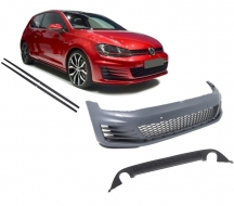 Front Bumper  suitable for VW Golf VII 7 2013-2016 GTI Design with Side Skirts and Rear Diffuser - COCBVWG7GTISSRD
