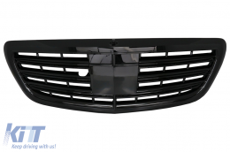 Front Grill AMG Mercedes W222 S-Class 2014+ AMG S63 S65 Design Piano Black - FGMBW222AMGPB