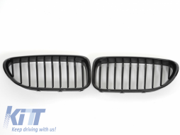 Front Grille BMW 6 Series F06 Gran Coupe (2012-up) Piano Black - FGBMF06PB