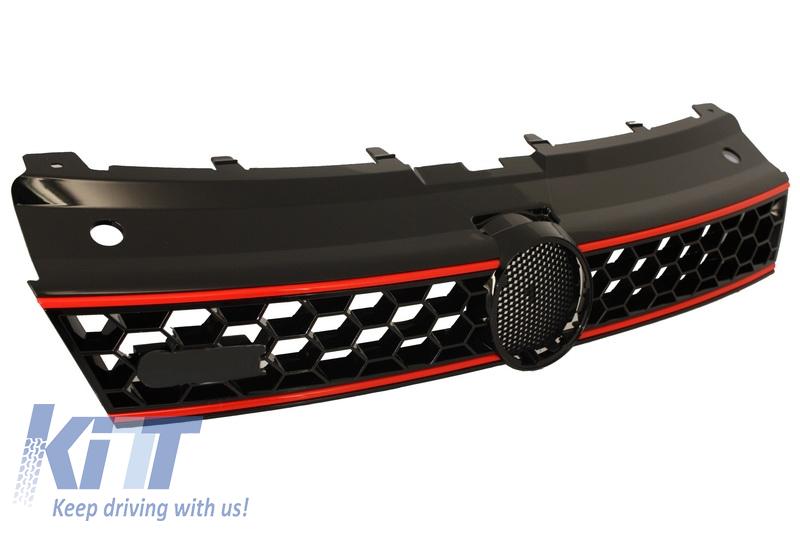 front grille central sport grille suitable for vw polo 6r 2009 2014 gti design. Black Bedroom Furniture Sets. Home Design Ideas