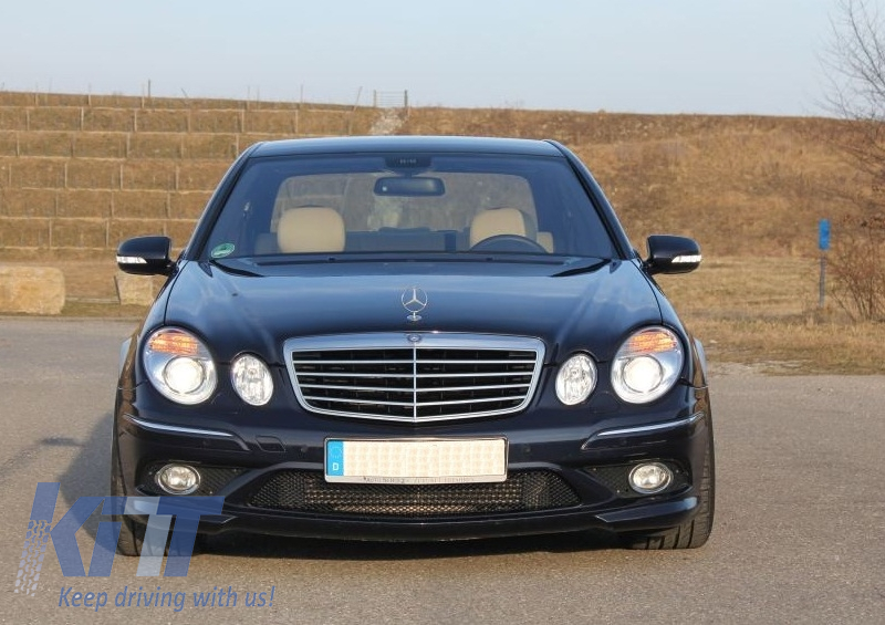 Front grille mercedes benz e class w211 facelift 2006 for Mercedes benz grills