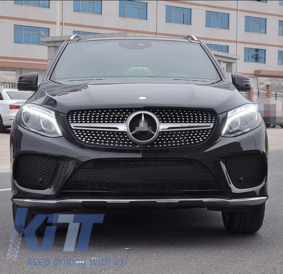 Front grille mercedes benz gle w166 suv 2015 43 amg for Silver star mercedes benz parts