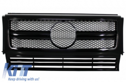Front Grille Mercedes W463 G-Class (1990-2012) New G65 G63 AMG Look Piano Full Black Edition - FGMBW463AMGBB