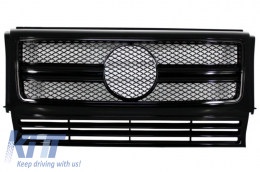 Front Grille Mercedes W463 G-Class (1990-2012) New G65 G63 AMG Look Piano Full Black Edition - FGMBW463AMGAB