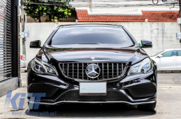 Front Grille suitable for MERCEDES Benz E-Class C207 W207 A207 Facelift (2013-2017) Coupe Cabrio GTR Look Black - FGMBW207FGTR