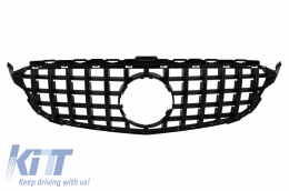 Front Grille suitable for MERCEDES C-Class W205 S205 C205 S205 (2014-2018) AMG GT-R Panamericana Design Black Without Camera - FGMBW205GTRWOCB