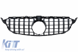 Front Grille suitable for MERCEDES C-Class W205 S205 C205 S205 (2014-2018) GT-R Panamericana Design Black With/Without 360 Camera - FGMBW205GTRWCBCN