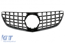 Front Grille suitable for Mercedes E-Class C207 W207 A207 Facelift (2013-2017) Coupe Cabrio GTR Look Black - FGMBW207FGTR
