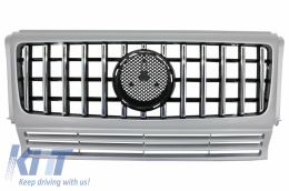 Front Grille suitable for MERCEDES G-Class W463 (1990-2014) New G63 GT-R Panamericana Design Silver