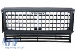 Front Grille suitable for Mercedes G-Class W463 (1990-2014) GT-R Panamericana Vertical Exclusive Design Chrome - FGMBW463MGTRCCN