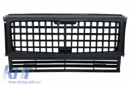 Front Grille suitable for Mercedes G-Class W463 (1990-2014) GT-R Panamericana Vertical Exclusive Design Piano Black - FGMBW463MGTRBCN