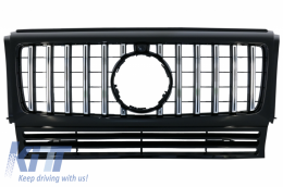 Front Grille suitable for MERCEDES G-Class W463 (1990-2014) New G63 GT-R Panamericana Design Black Chrome - FGMBW463GTRCN