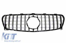 Front Grille suitable for Mercedes GLA-Class X156 Facelift (2017-Up) GT-R Panamericana Design Black Chrome Edition - FGMBX156GTR