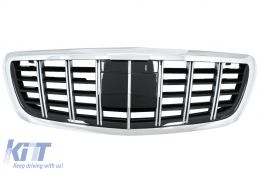 Front Grille Suitable for Mercedes S-Class W222 (2014-Up) B Style Design - FGMBW222B