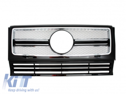 Front Grille suitable for MERCEDES W463 G-Class (1990-2012) New G65 AMG Look Chrome Edition - FGMBW463AMG