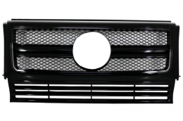 Front Grille suitable for Mercedes W463 G-Class (1990-2012) New G65 G63 AMG Look Piano Full Black Edition - FGMBW463AMGBB