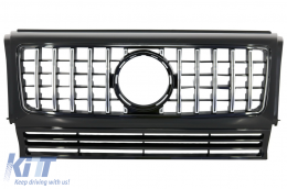 Front Grille suitable for MERCEDES W463 G-Class (1990-2014) New G63 GT-R Panamericana Design - FGMBW463GTR