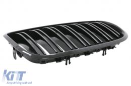 Front Grilles Kidney BMW X5/X6 E70/E71 (2007-2014) Double Stripe M Design Piano Black - FGBME70DPBG