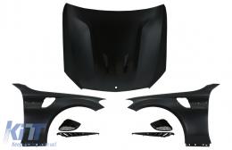 Front Hood Bonnet with Front Fenders Suitable for Mercedes C-Class W205 S205 C205 A205 (2014-2020) GT Design - COHDMBW205FFGT