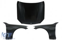 Front Hood Bonnet with Front Fenders Suitable for Mercedes C-Class W205 S205 C205 A205 (2014-2020) C63 Design - COHDMBW205C63FF