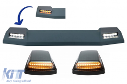 Front Roof Spoiler With Turning Lights Sequential Dynamic suitable for MERCEDES Benz W463 (1989-2017) 6X6 LED Flowing - COFRSMBW463BFWMS