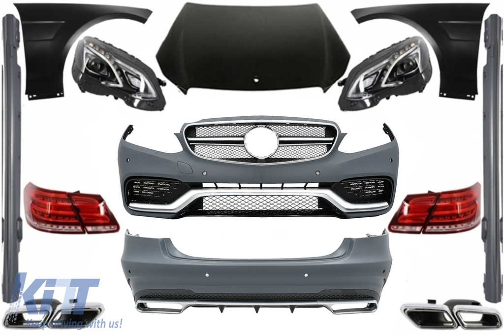 Front Lower Car License Number Plate Bracket For Mercedes E-class W212 2009-2013